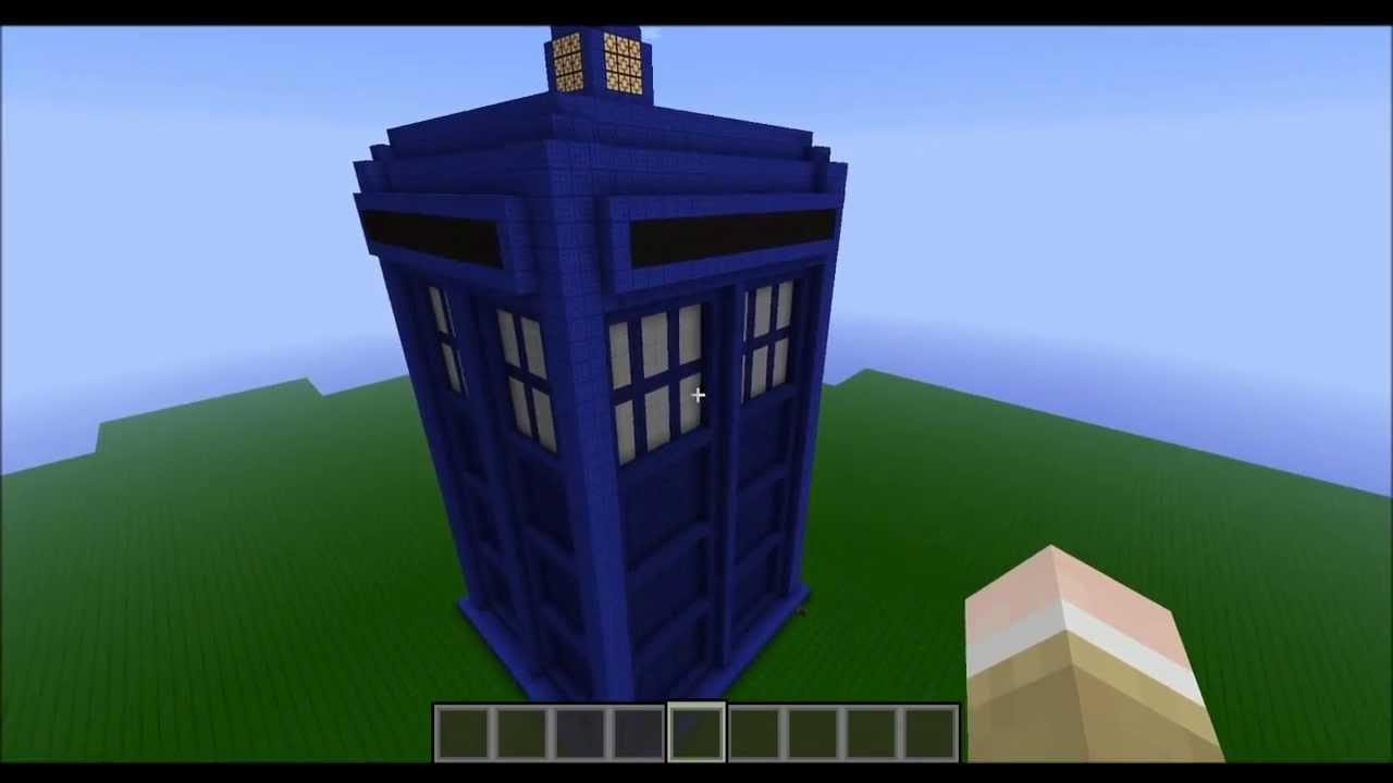 Minecraft Tardis Build Exterior And Interior Youtube