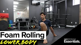 How to Foam Roll the Lower Body