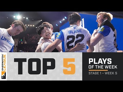 Overwatch League Top 5 Plays – Stage 1 – Week 5 thumbnail