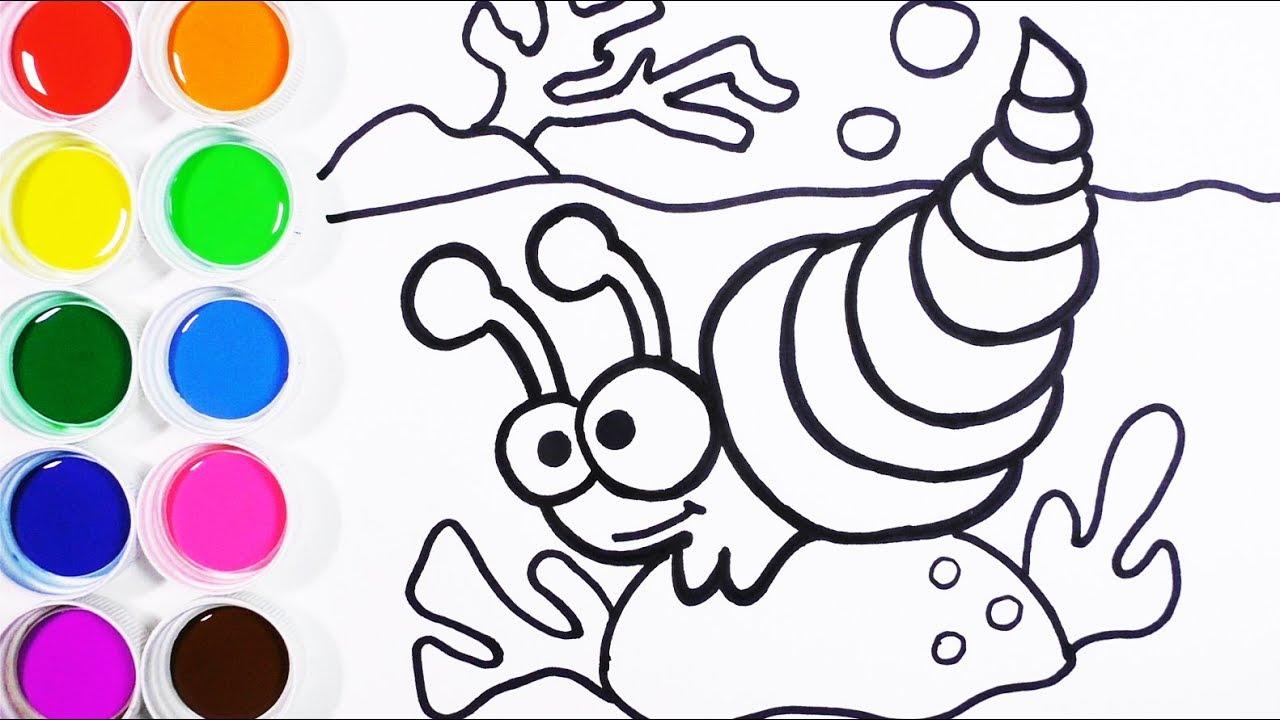 Dibuja y Colorea un Caracol de Arco Iris - Colores Para Niños - Learn Colors / FunKeep