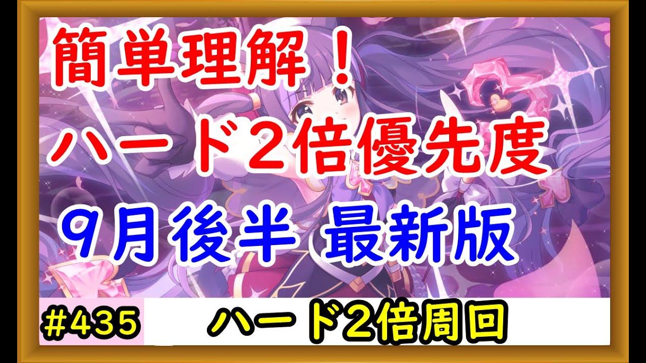 【プリコネ】ハード2倍周回優先度!9月後半最新版【プリンセスコネクト!】