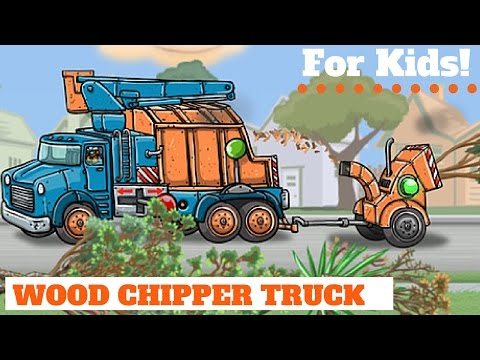 Wood Chipper Truck!  For Kids!