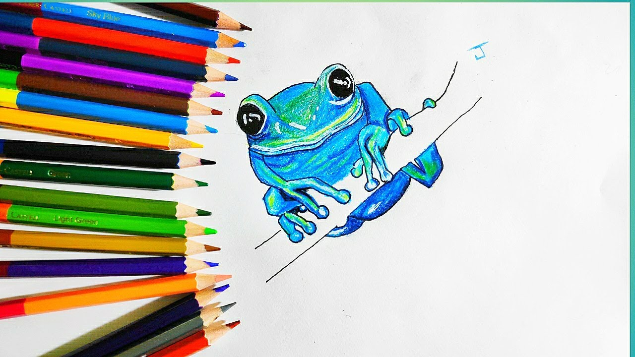 how to draw a frog step by step easy for beginners ...