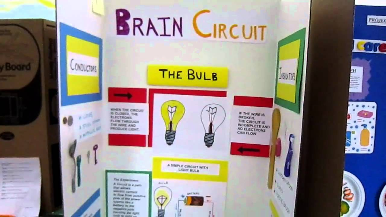 electric circuit science fair project - YouTube