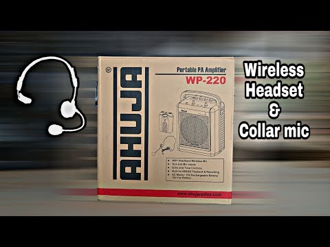 AHUJA PORTABLE PA SYSTEM WP-220 (WM-23) WITH CORDLESS COLLAR & HEADSET MICROPHONE