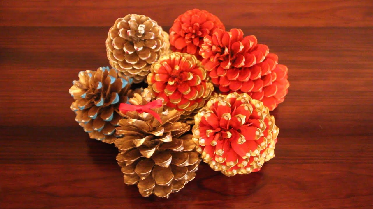 Diy painting pinecones for christmas pi as navide as for How to paint pine cones for christmas