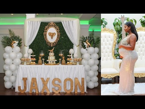 Vlog XXI - 31 Weeks Pregnant, I Got My Hair Straightened And Throwing Our Jungle Glam Baby Shower