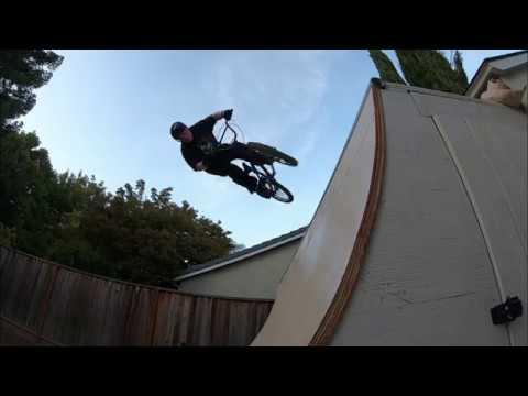 Backyard BMX Course Dirt Jump Track and Quarter Pipe Build ...