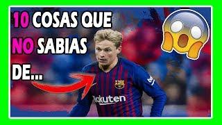 TOP 10 COSAS que NO SABIAS de Frenkie DE JONG - el NUEVO Johan CRUYFF SKILLS y goles BARCELONA 2019