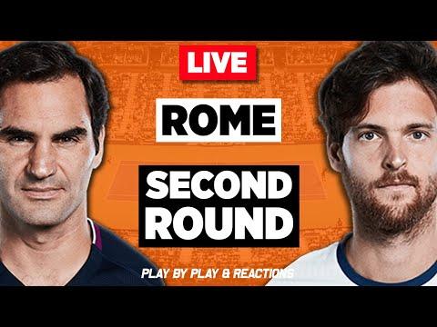 🔴 FEDERER vs SOUSA - LIVE Stream Reaction - Second Round - Rome Tennis 2019