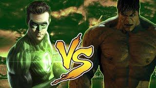 Халк VS Зелёный Фонарь - Нереальная Рэп Битва