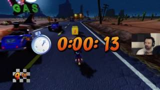 Crash Bandicoot 3: WARPED (N-Sanity HD) playthrough pt53 - Road Crash Speedrun