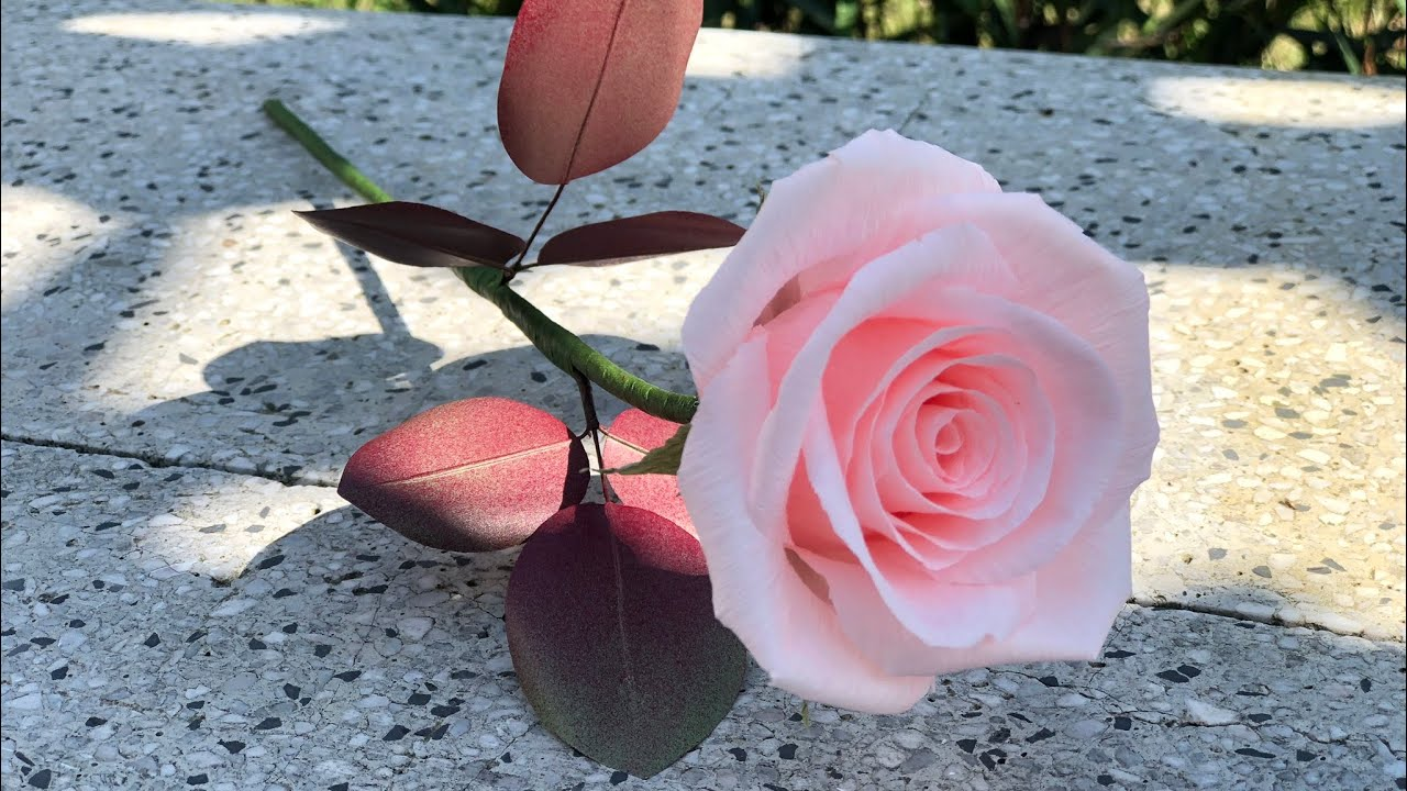 Crepe Paper Rose Tutorial | Làm Hoa Hồng Giấy Nhún | Rita Handmade