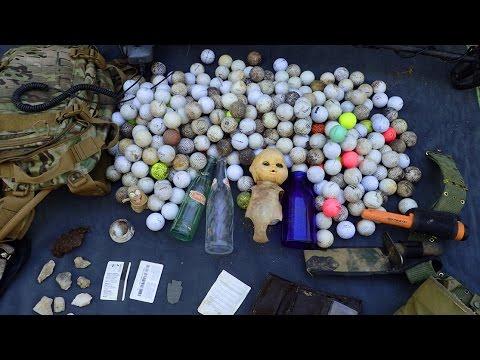 Creek Finds! - Stolen Wallet, Arrowhead, Bottles and a Pile of Golf Balls!
