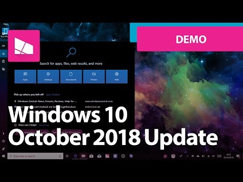 Windows 10 October 2018 Update - Official Release Demo