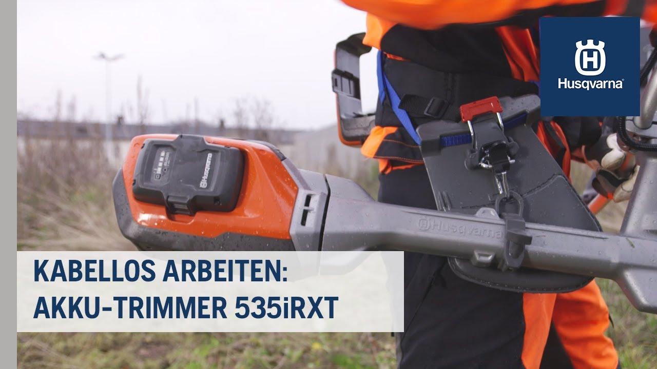 Kabellos arbeiten mit dem Profi-Trimmer 535iRXT | Husqvarna Grünflächen