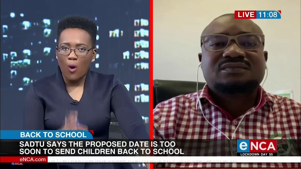 Sadtu says the 1st of June is too early to reopen schools - eNCA