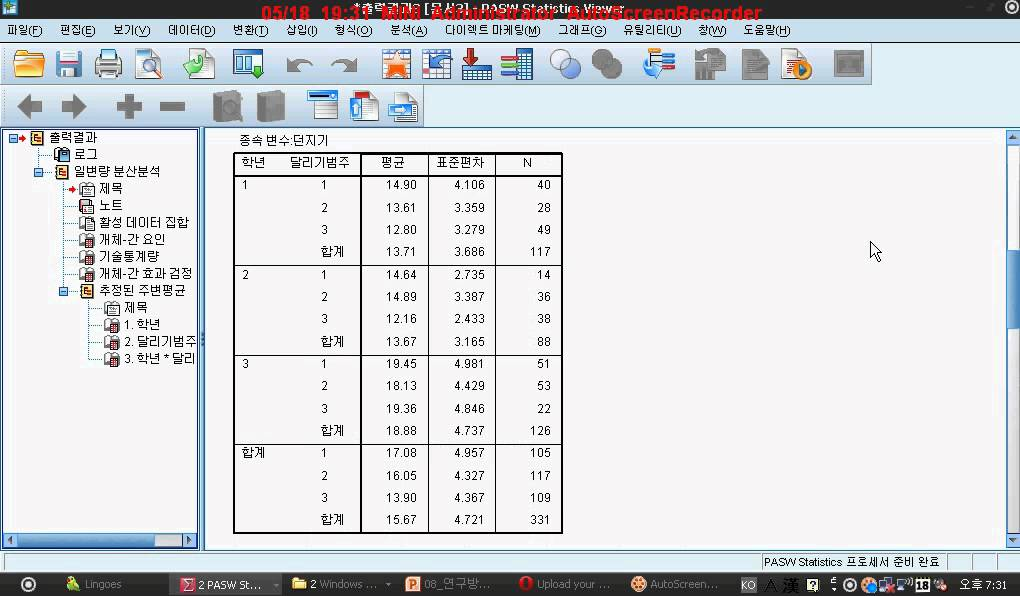 how to make a two way table in minitab