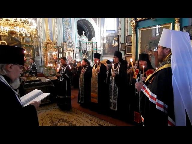 Чтение Великого покаянного канона Андрея Критского в Свято-Озерянском храме