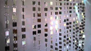 """Beaded Curtain - """"Shimmy"""" Metallic Gold or Silver"""