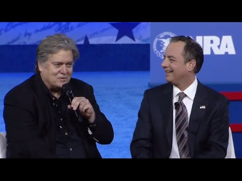 Steve Bannon, Reince Priebus Interview at CPAC 2017 | ABC News