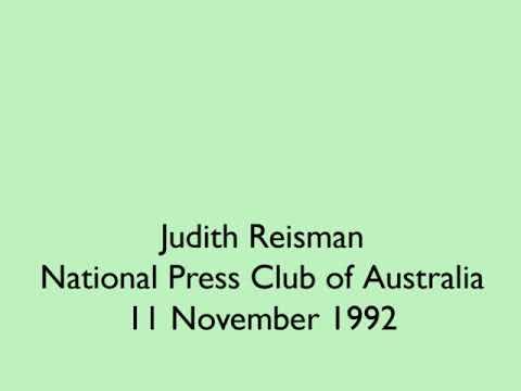 Judith Reisman at the National Press Club of Australia