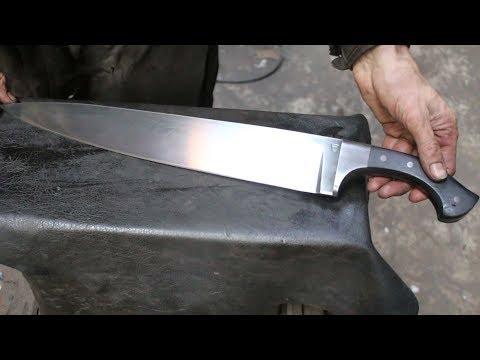 Forging A Seax Knife Form A Semi Truck Leaf Spring.