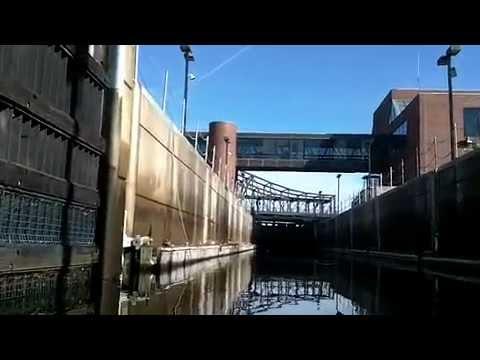 Sea Kayak Paddling through locks at Charles River to Boston Harbor