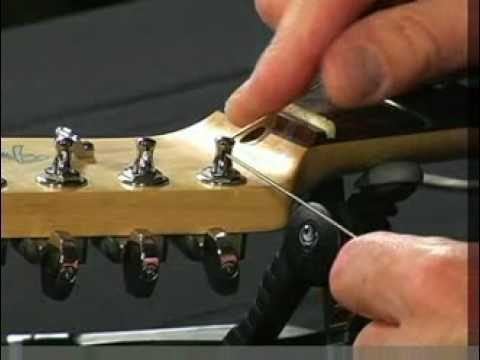 how to restring guitars with a string through body youtube. Black Bedroom Furniture Sets. Home Design Ideas