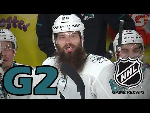 San Jose Sharks vs Las Vegas Golden Knights. 2018 NHL Playoffs. Round 2. Game 2. 04.28.2018. (HD)