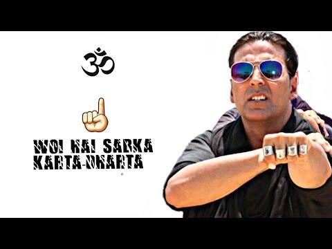 Attitude For Boys Special WhatsApp Status || Boss Title Akshay Kumar , Honey Singh Rap Status Lyrics