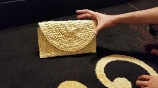 JOSEKO Straw Clutch Handbag, Women Straw Purse Envelope Bag Wallet Summer Beach Bag.
