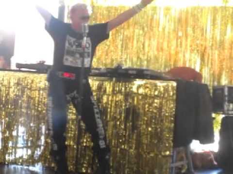 Spizz Energi: karaoke at Vintage Festival Southbank