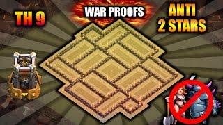 TH9 ANTI 2 STAR WAR BASE with BOMB TOWER 2016 || WAR PROOFS || ANTI VALK+PEKKA || CLASH OF CLANS ✓