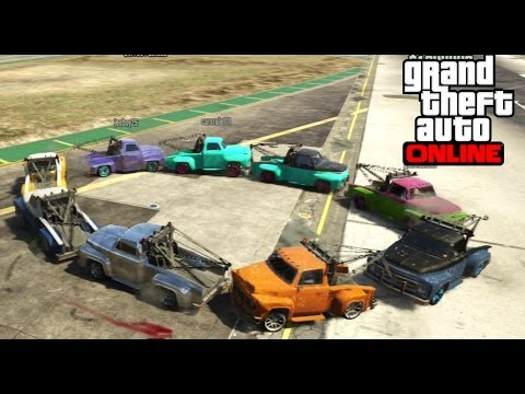 GTA 5 Online - 10 Towtruck Madness!!!...