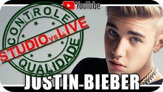 JUSTIN BIEBER - Studio vs Live CONTROLE DE QUALIDADE Marcio Guerra Reagindo React Humor Music Video