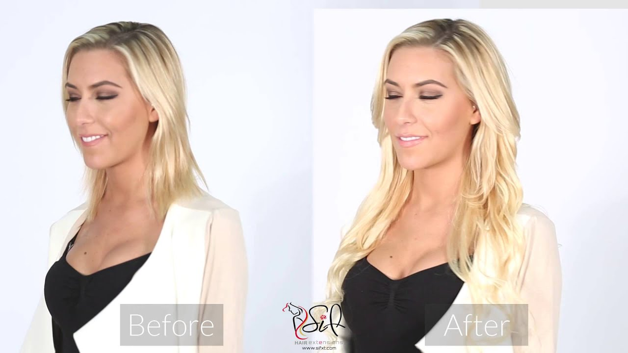 Sif Clip In Hair Extensions Before And After Youtube