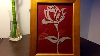 Engraving Glass Rose by hand