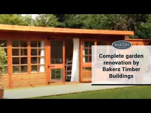 complete garden renovationbakers timber buildings - youtube