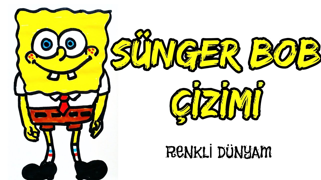 Sunger Bob Nasil Cizilir Sunger Bob Cizimi How To Draw A Sponge