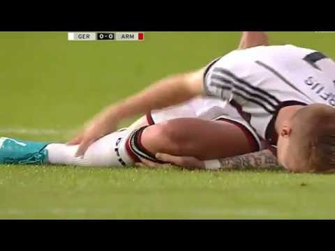 Marco Reus is injured in the friendly against Armenia / Mundial 2014