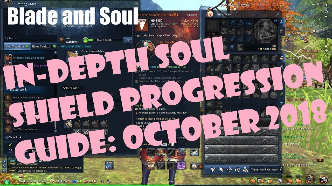 [Blade and Soul] In Depth Soul Shield Progression Guide: October 2018
