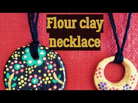 DIY - flour clay Part- 2 Necklace, how to make flour dough necklace