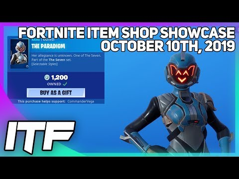 Fortnite Item Shop *NEW* FEMALE VISITOR SKIN! [October 10th, 2019] (Fortnite Battle Royale)