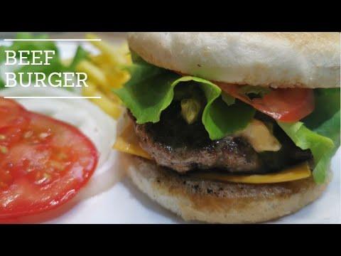 Classic Homemade Beef Burger Easy Recipe Anyone Can Prepare Youtube