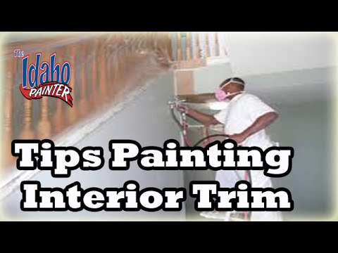 Masking Tips For Use When Using A Paint Sprayer Spraying Interior Trim Work Youtube
