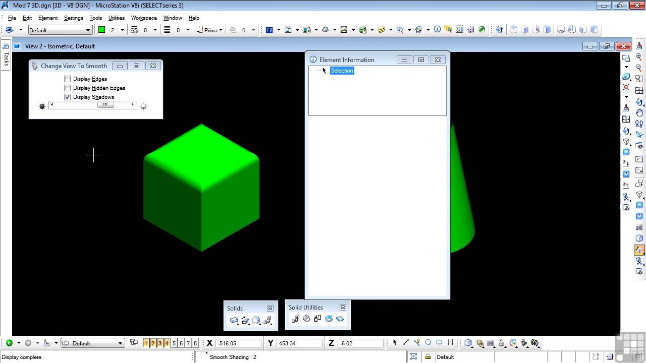 Bentley Microstation V8i 3d Tutorial Convert To Solid