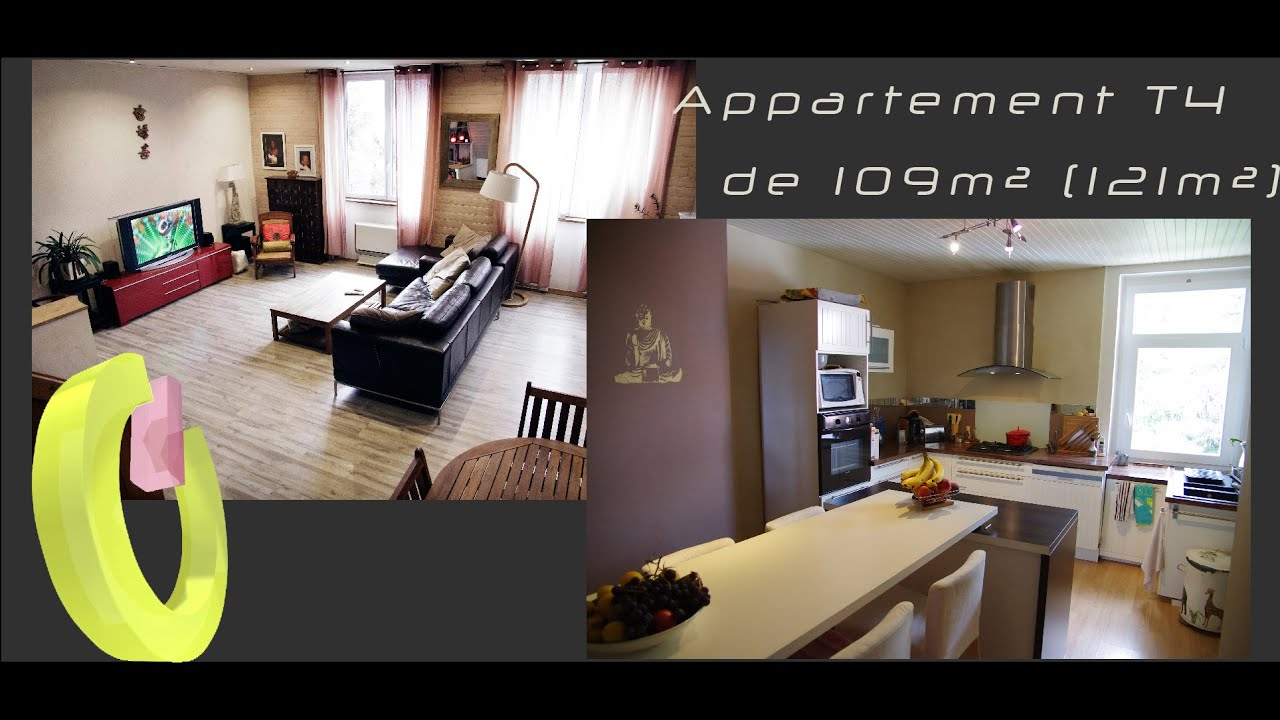 Vente d 39 un appartement t4 atypique et contemporain saint for Un appartement atypique