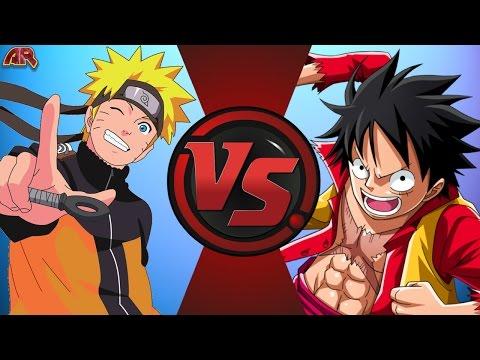NARUTO vs LUFFY! (Naruto vs One Piece) Cartoon Fight Club Episode 133