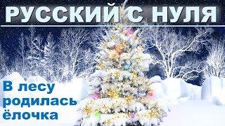Новый год. Изучаем русский язык по песням.  Русский язык с нуля для начинающих иностранцев
